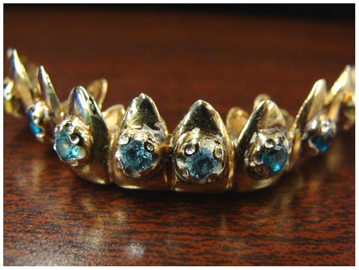 10k solid gold with citrine and topaz, US$350
