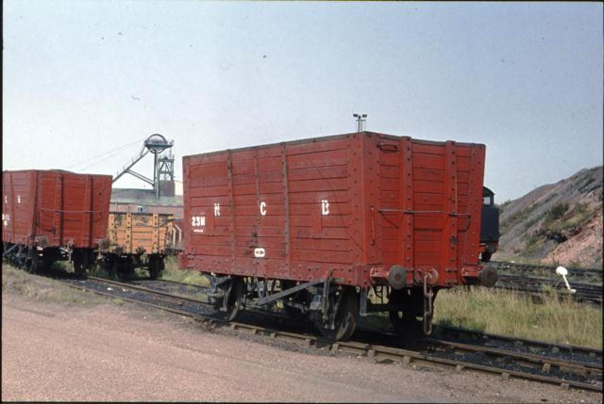 Ex-NER hopper wagons taken into National Coal Board ownership (County Durham) wagon fleet. Many life-expired wagons were taken over by the NCB in 1947 and used internally