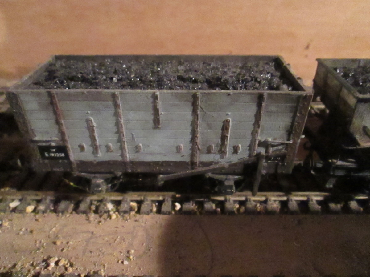 A Slaters kit, 20 ton North Eastern wooden built hopper - many lasted into British Railways and subsequently National Coal Board (NCB) ownership