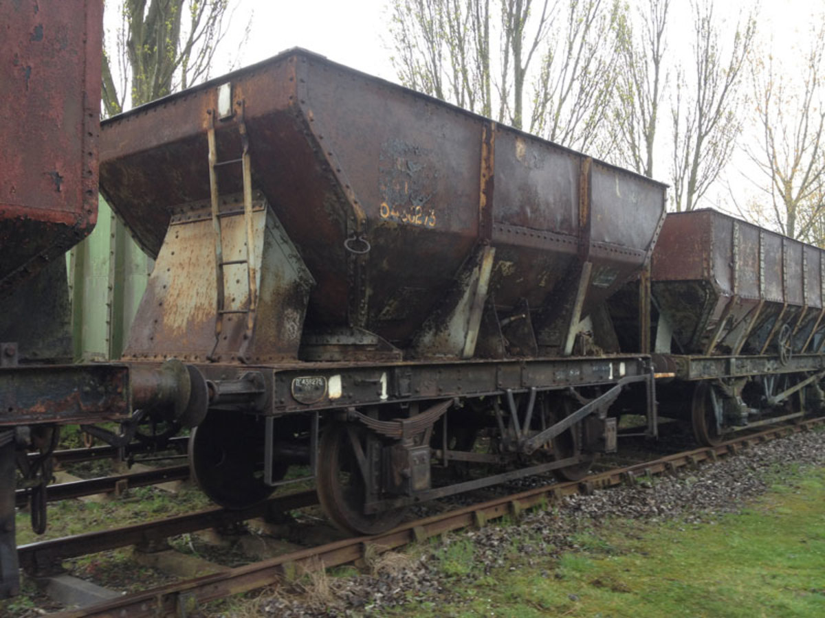 BR built 22 ton iron ore hopper - used across the system between mines and works, many were privately owned by the steel companies