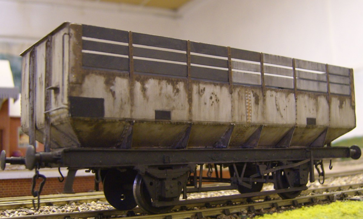 Kit built British Railways coke wagon shows attention to detail by the kit manufacturer and modeller
