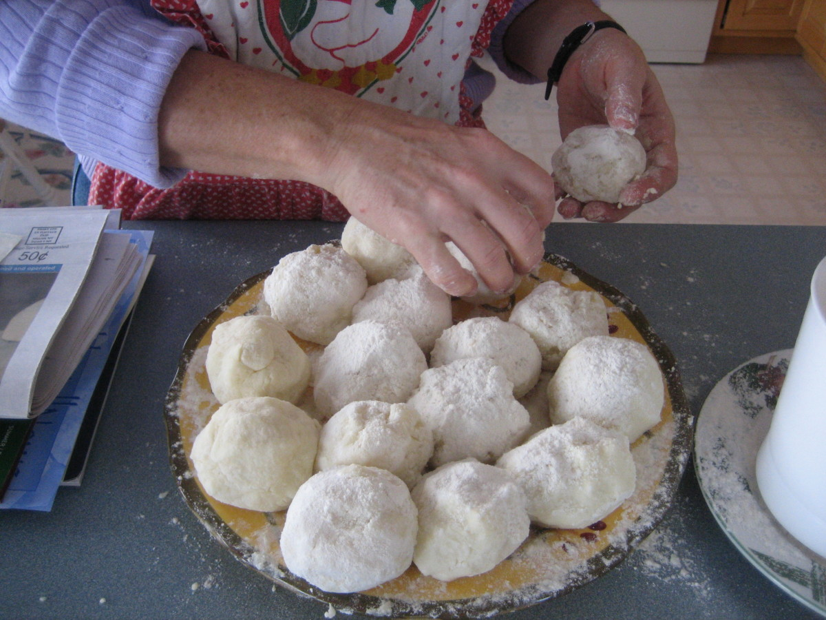 Balls of Lefse Dough