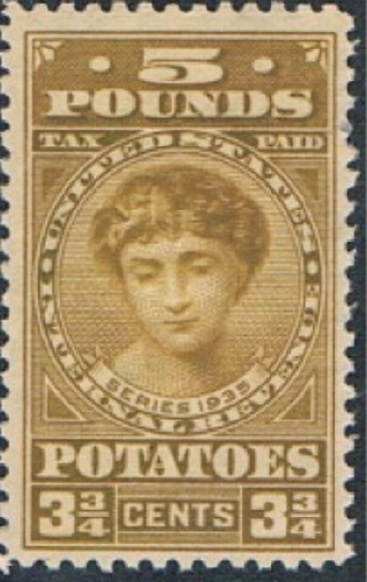 1935 Potato Tax Stamp
