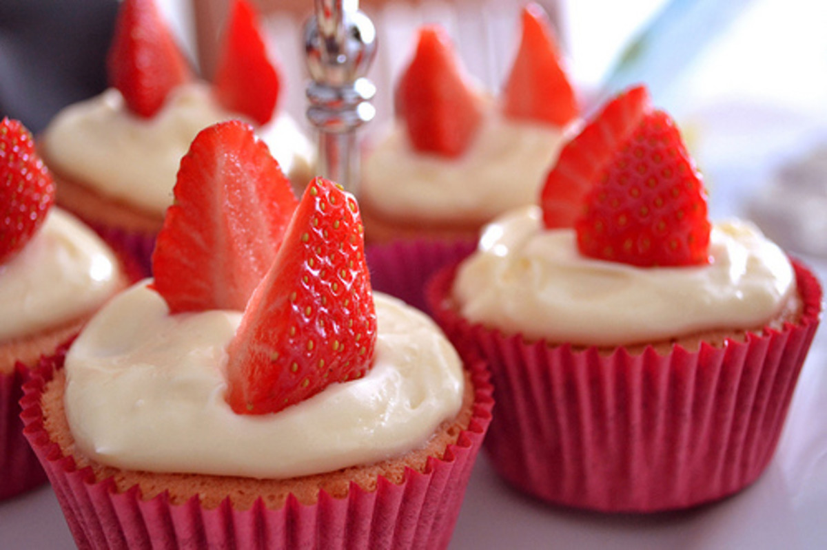 Strawberry Mint Cupcake Recipe