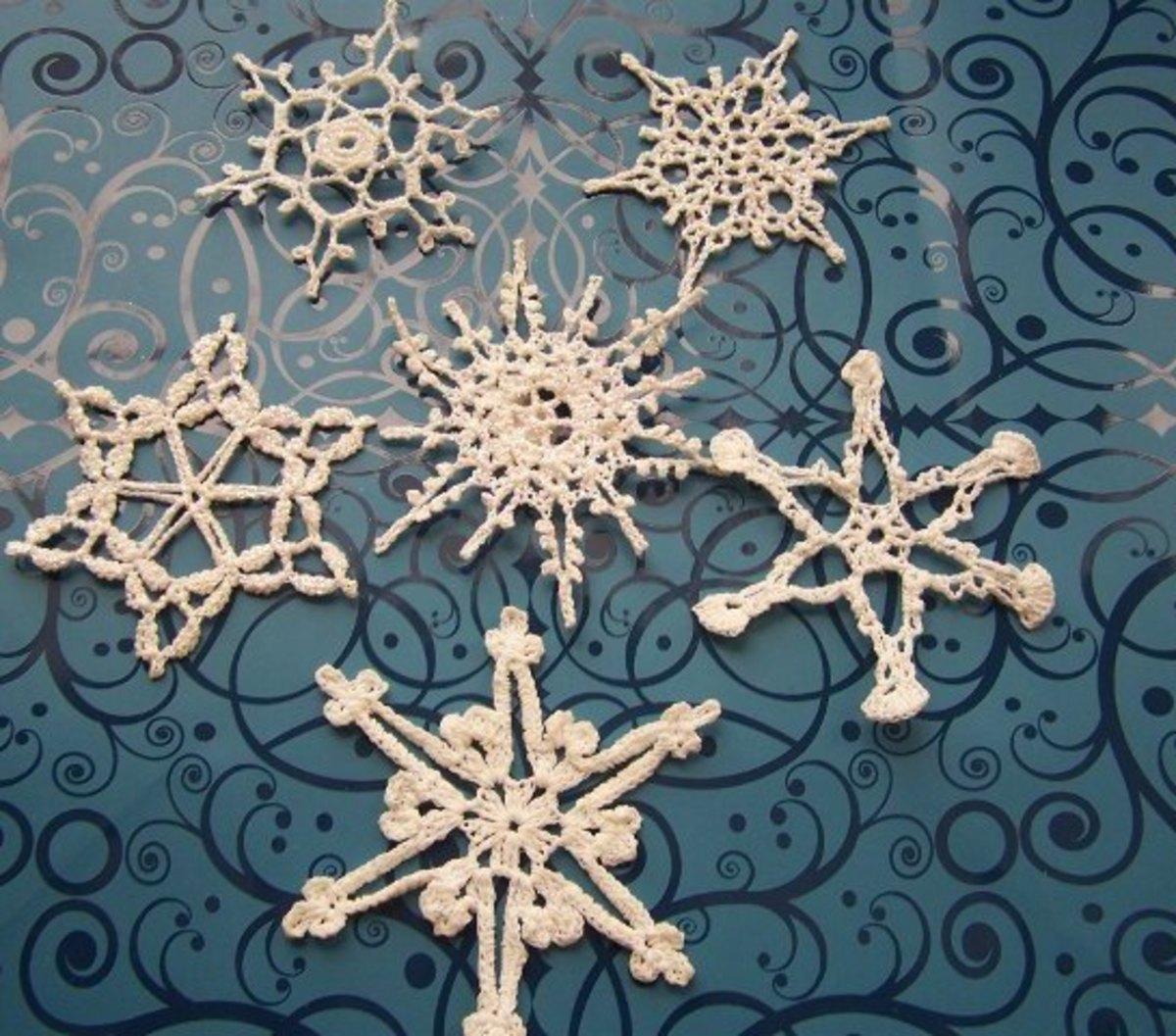 1.Crochet Snowflakes