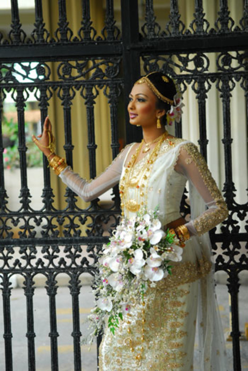 The Indian and Kandyan Wedding Saree Worn in Sri Lanka