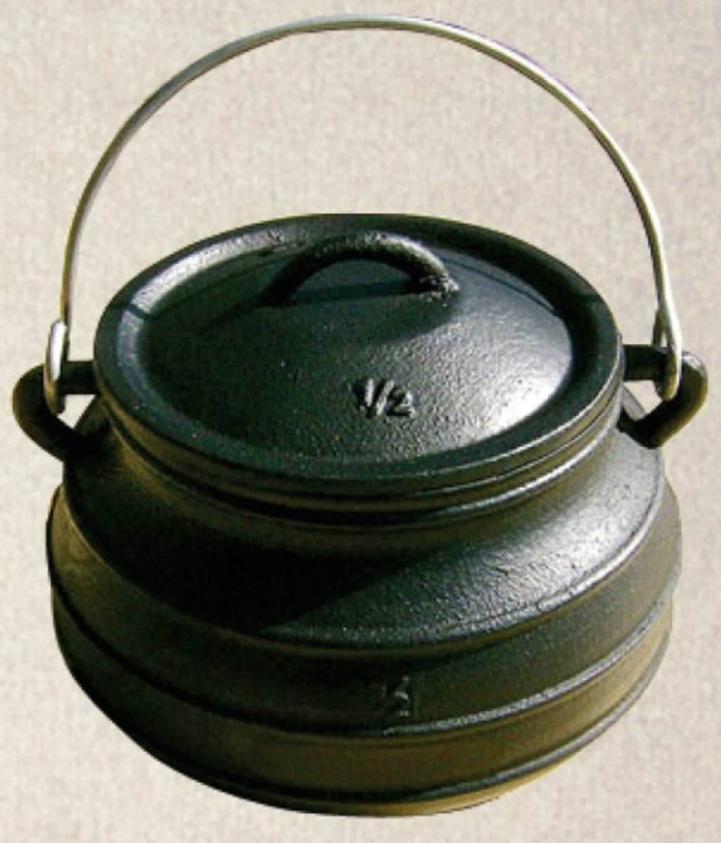 Cast Iron flat bottom pots for outdoor cooking
