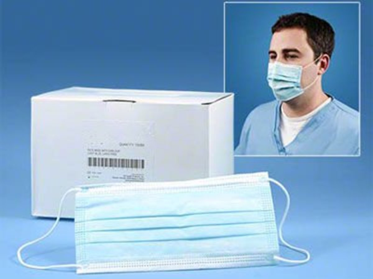 Though of limited use, the disposable surgical mask can prevent some passing on of disease, especially if it is you that is ill.