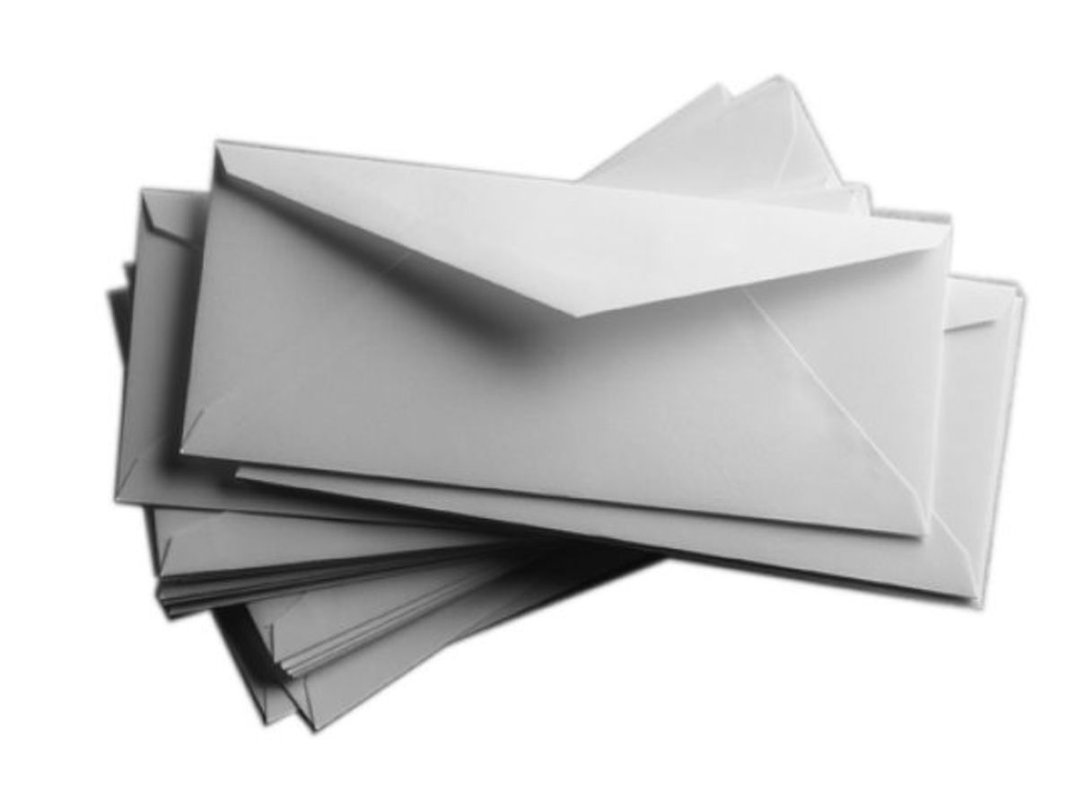Where have these envelopes been?
