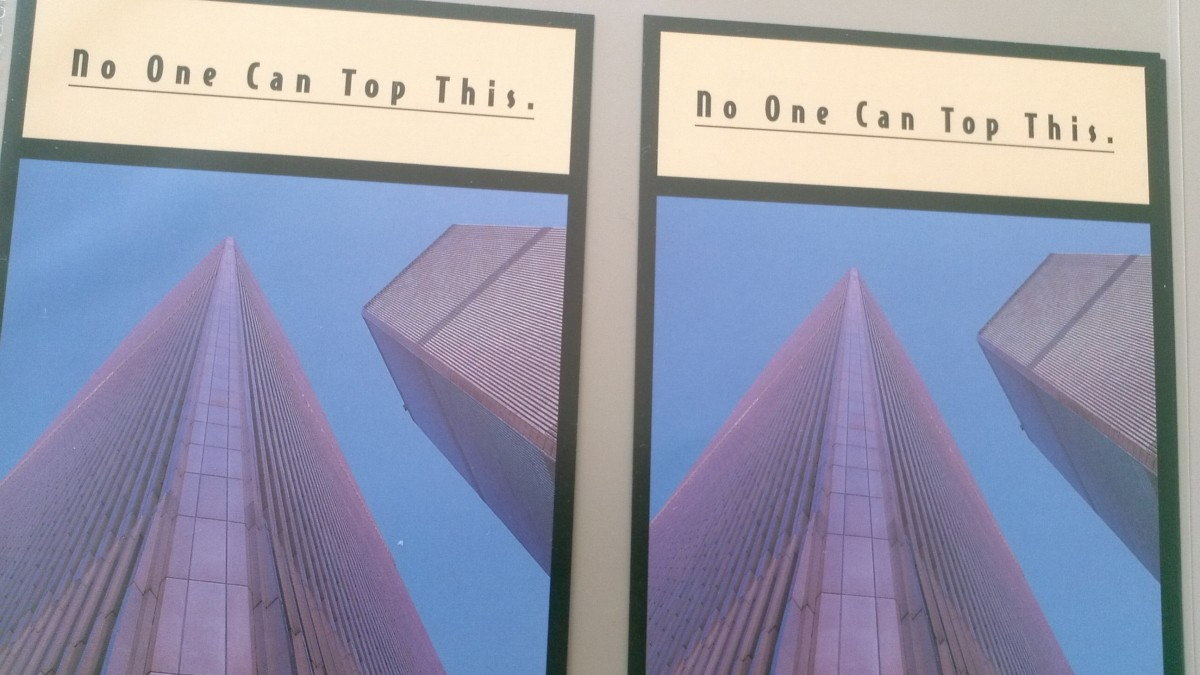 Here are two of the first pieces of ephemera I collected... on the morning of September 11, 2001, as the twin towers were burning.