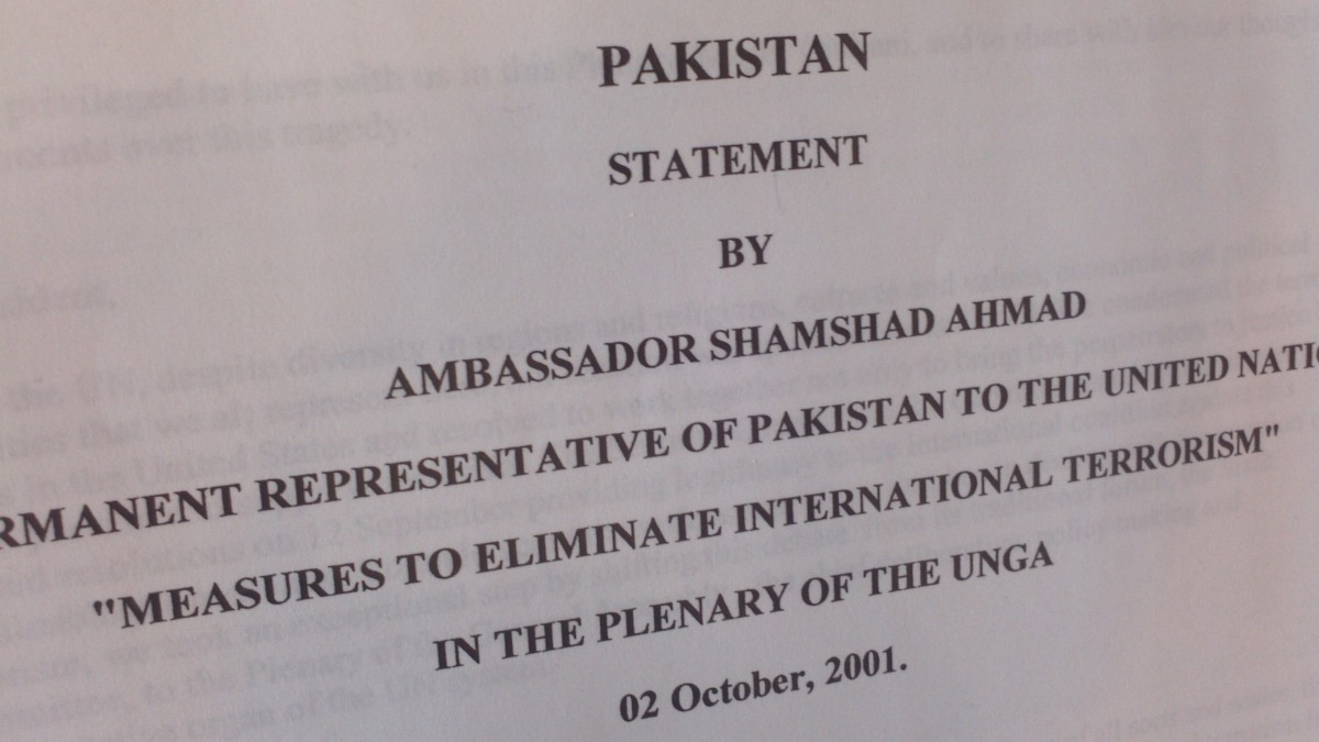 They were acquired during the World Assembly meeting addressing measures to eliminate international terrorism (October 1-5, 2001).