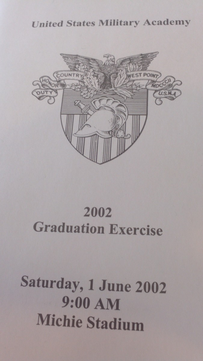 This West Point graduation program marks when President Bush spoke for the first time in public about pre-emptive strike. Today I wonder how many of the graduates seated in front of my camera died in Afghanistan and Iraq.