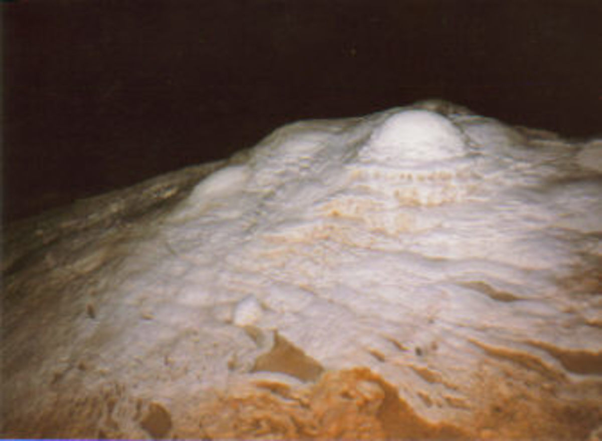 Formations inside Ogle Cave.