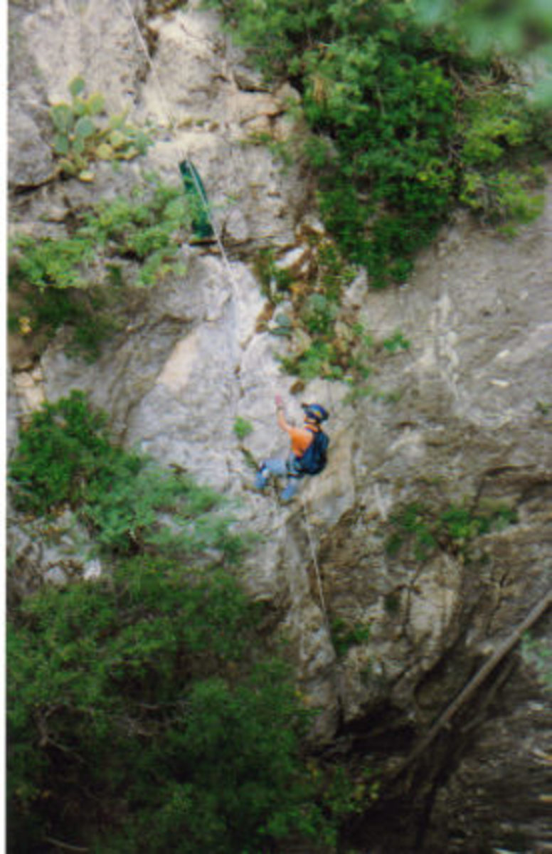Rappel in to Ogle Cave.