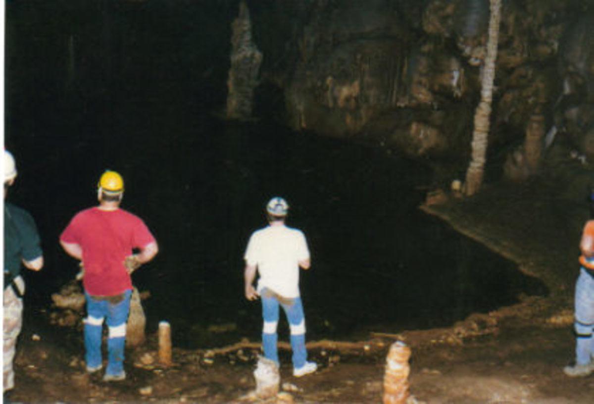 The lake in Lake Cave.