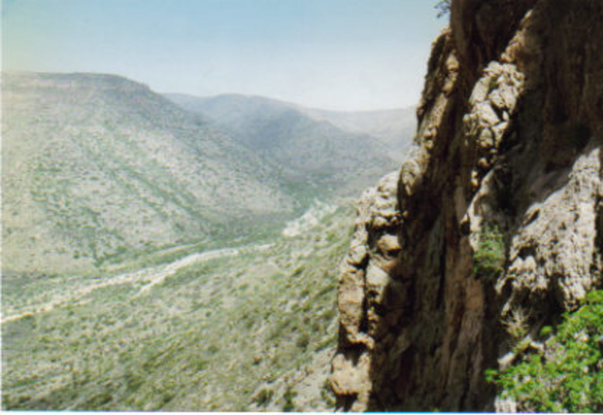 View from Corkscrew Cave.