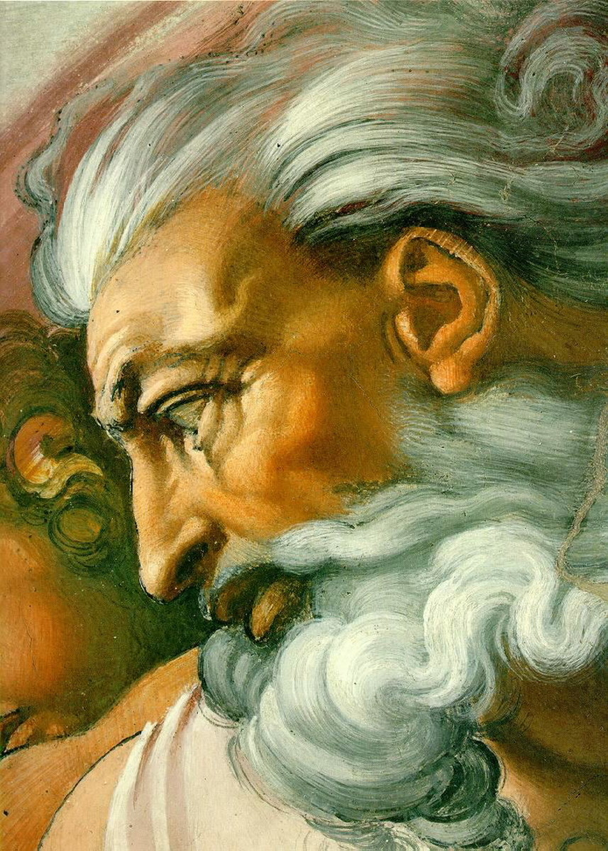 GOD THE CREATOR AS PICTURED BY MICHELANGELO