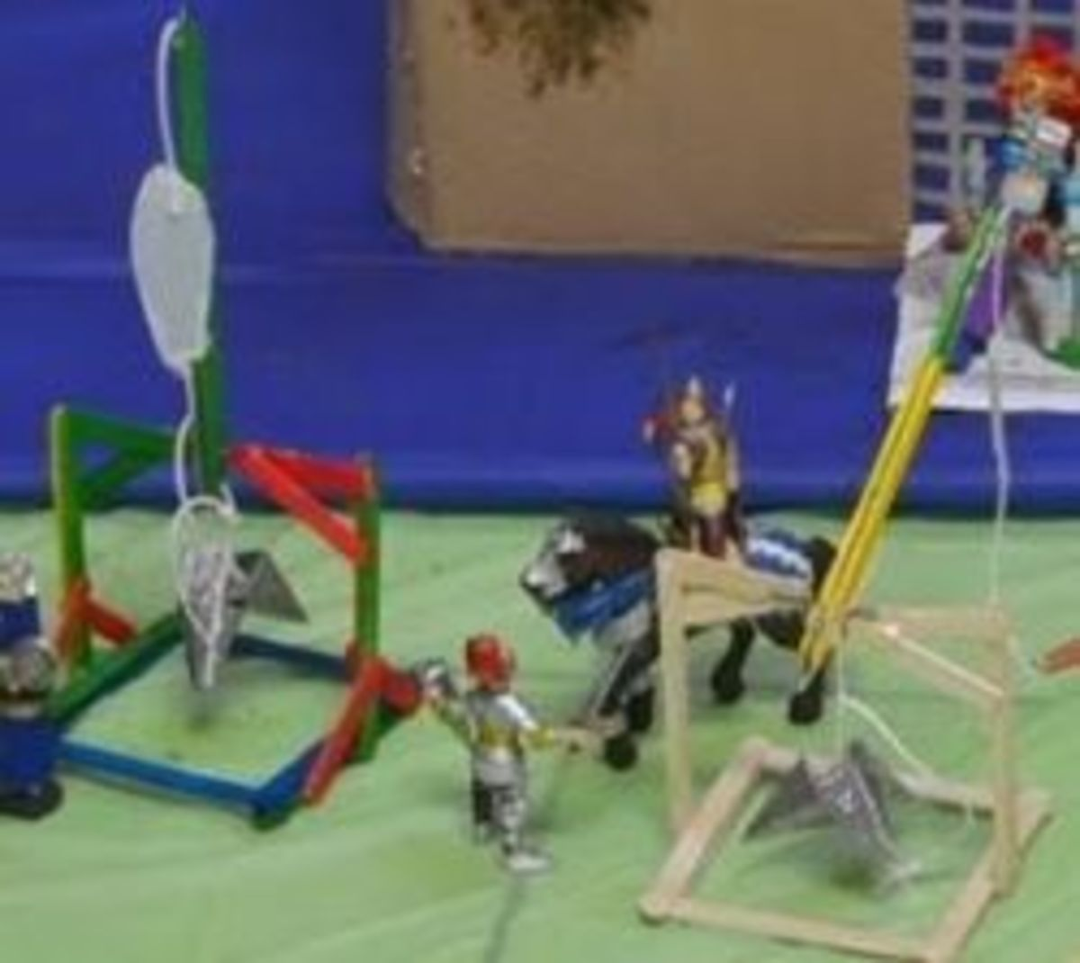 Trebuchet and ballista models - Photo taken by Michelle Harrison Photography, who participates in our class