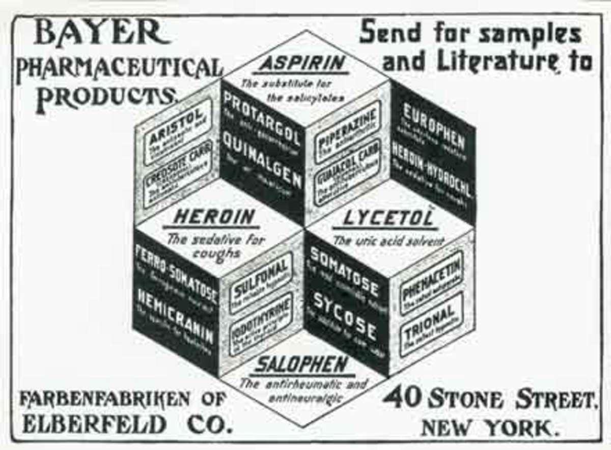 Promotional leaflet for Bayer c. 1897