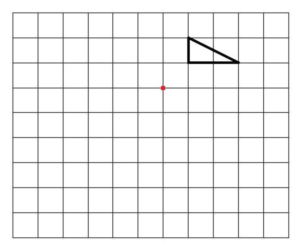 How to enlarge a shape by a negative or minus scale factor from a centre of enlargement.