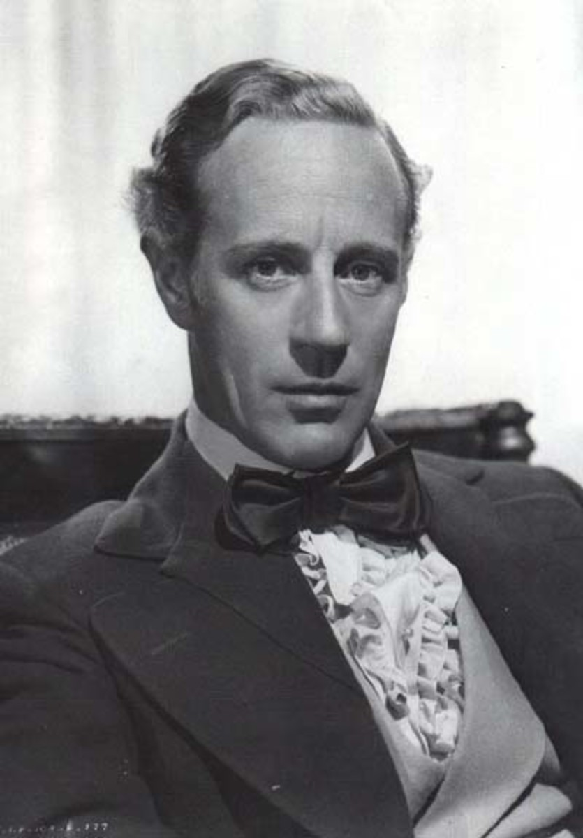 Ashley Wilkes, as played by Leslie Howard, showing his tortured side.
