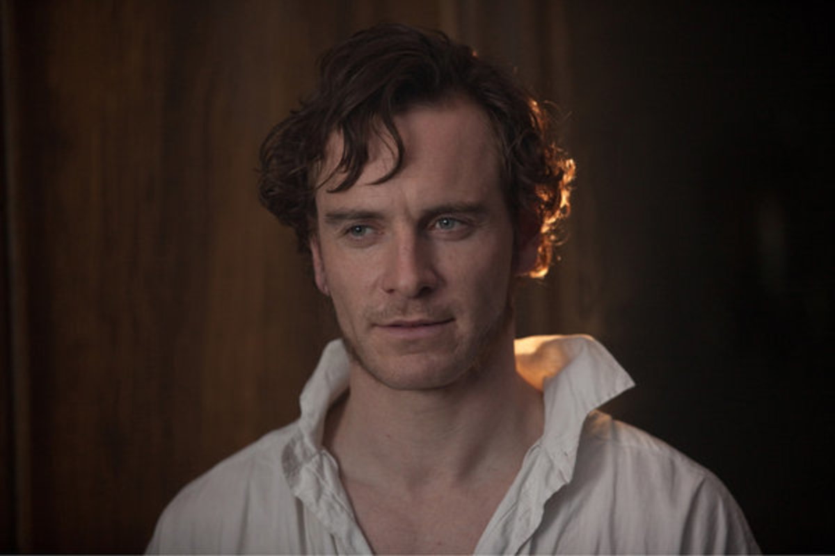 Michael Fassbender looking tortured.