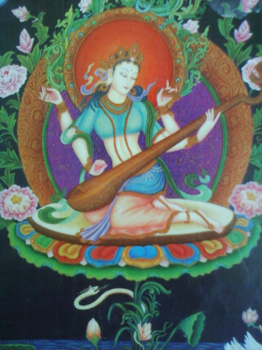 Sarasvati is Goddess of wisdom and intellect