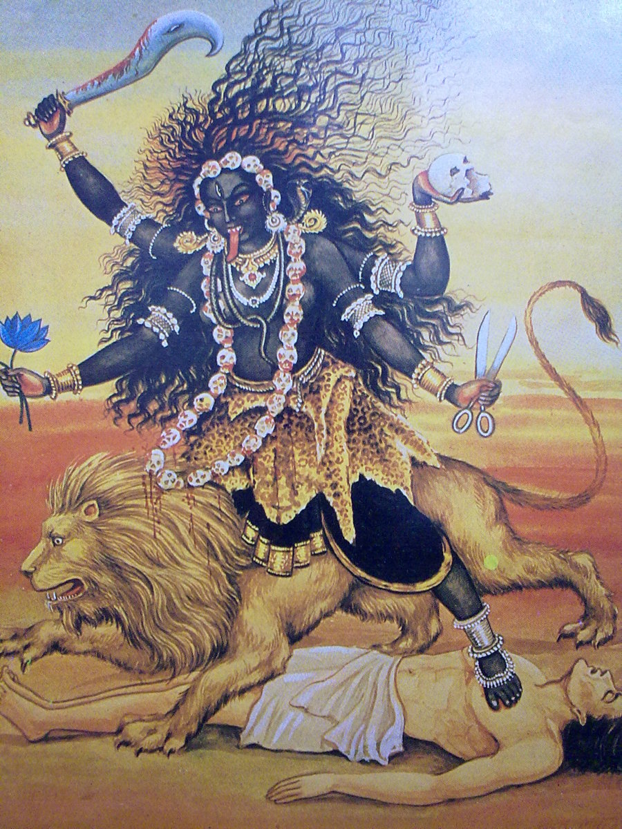 Goddess Kali is the terrible form of World Mother in Hinduism