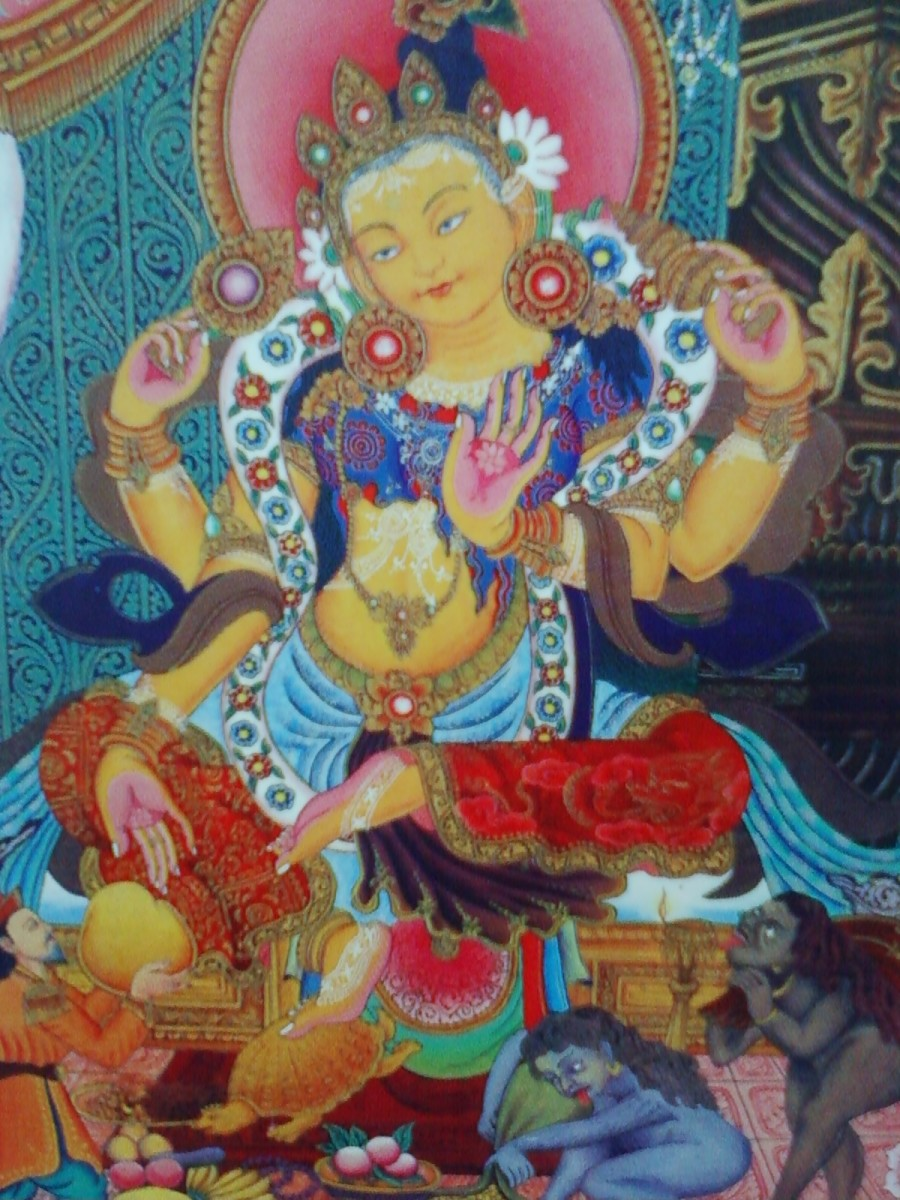 Laksmi is the Goddess of Wealth in Hindu religion. She is consort of Lord Vishnu