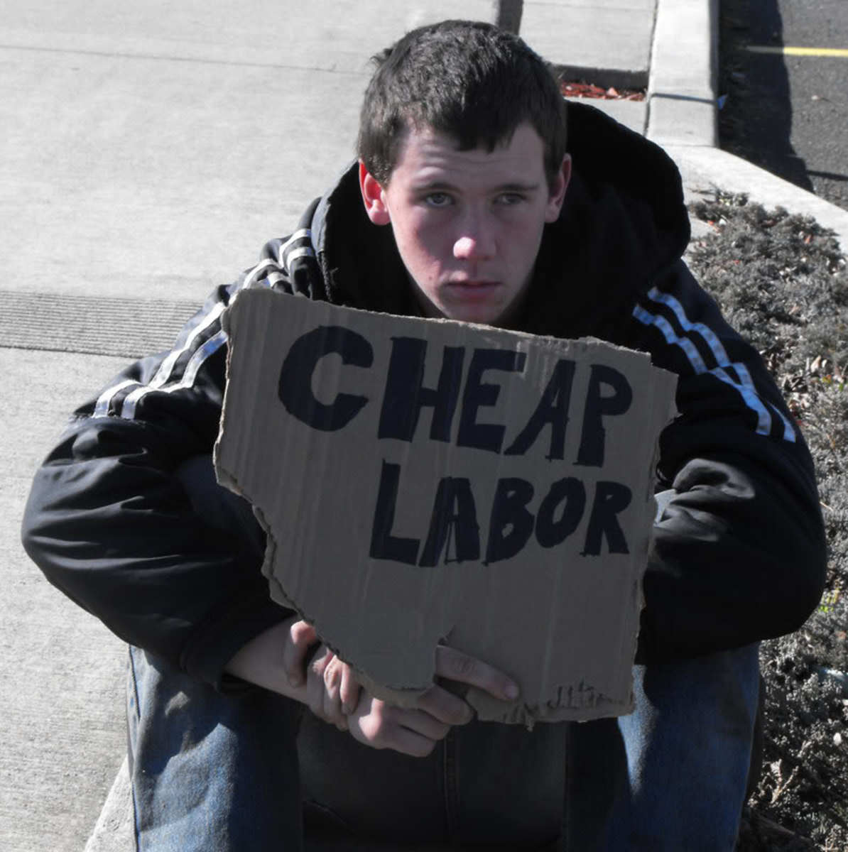 An American Who is Desperate for Work.
