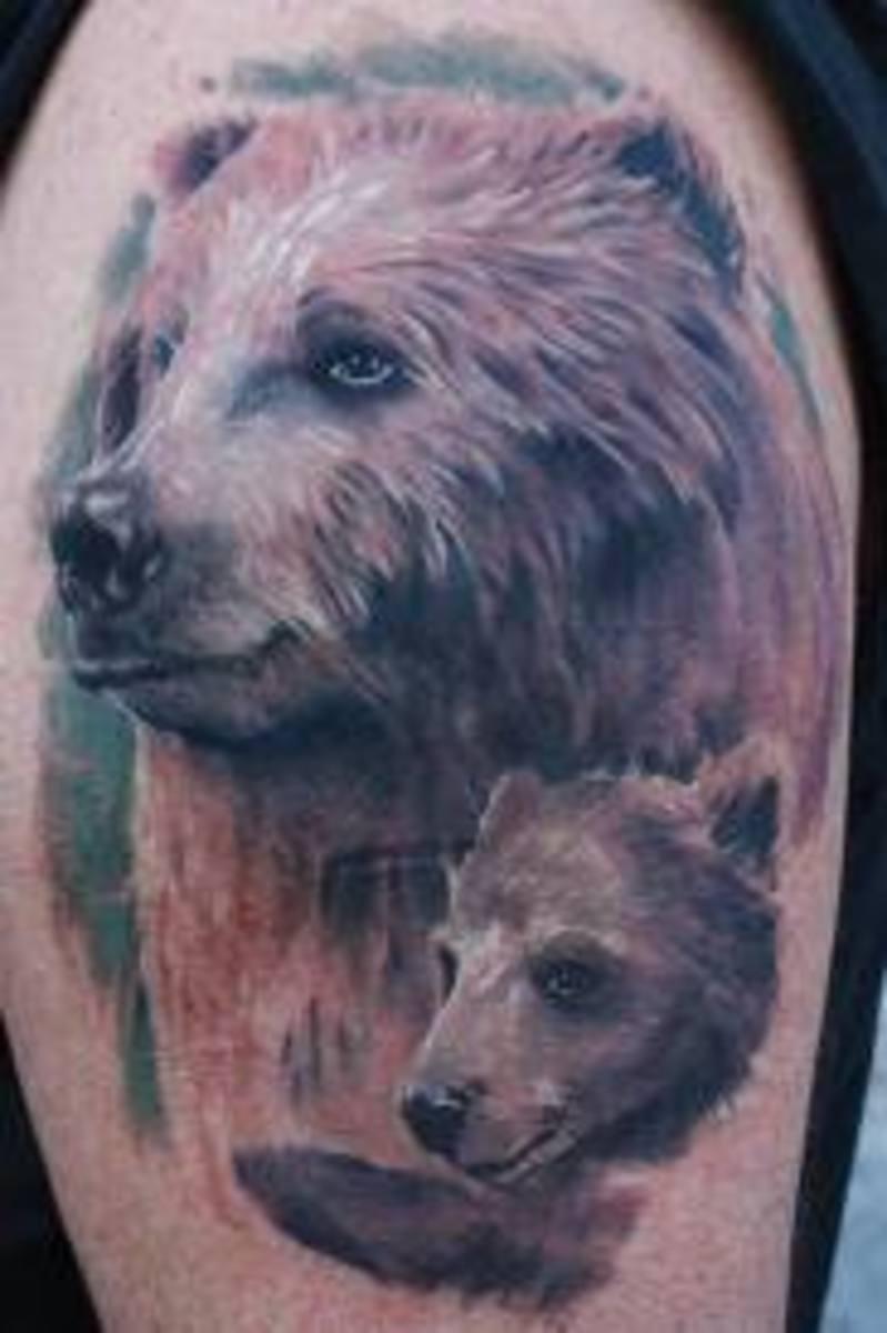 Bear tattoos and bear tattoo designs bear tattoo meanings for Bear cub tattoo