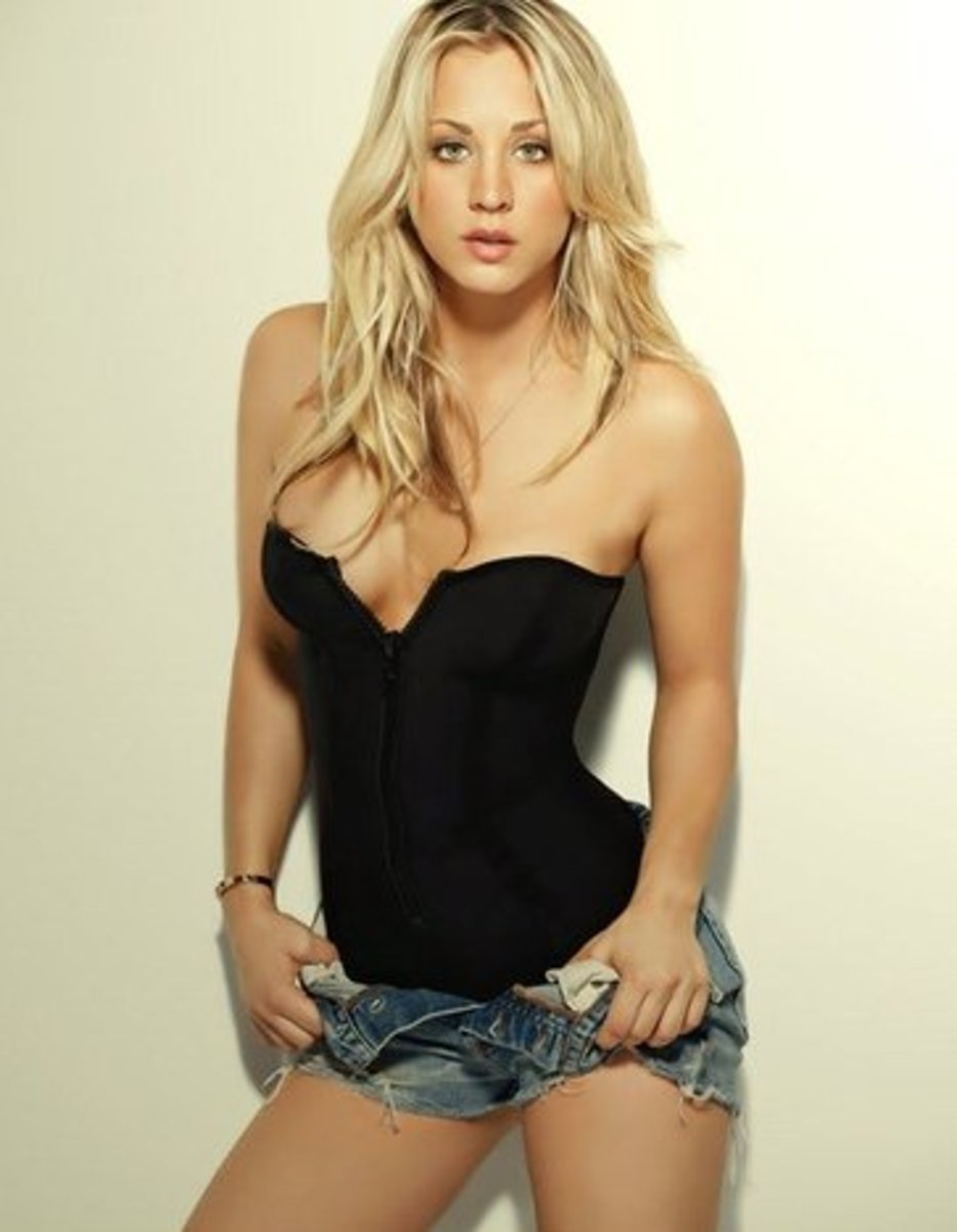 Kaley Cuoco posing for Maxim