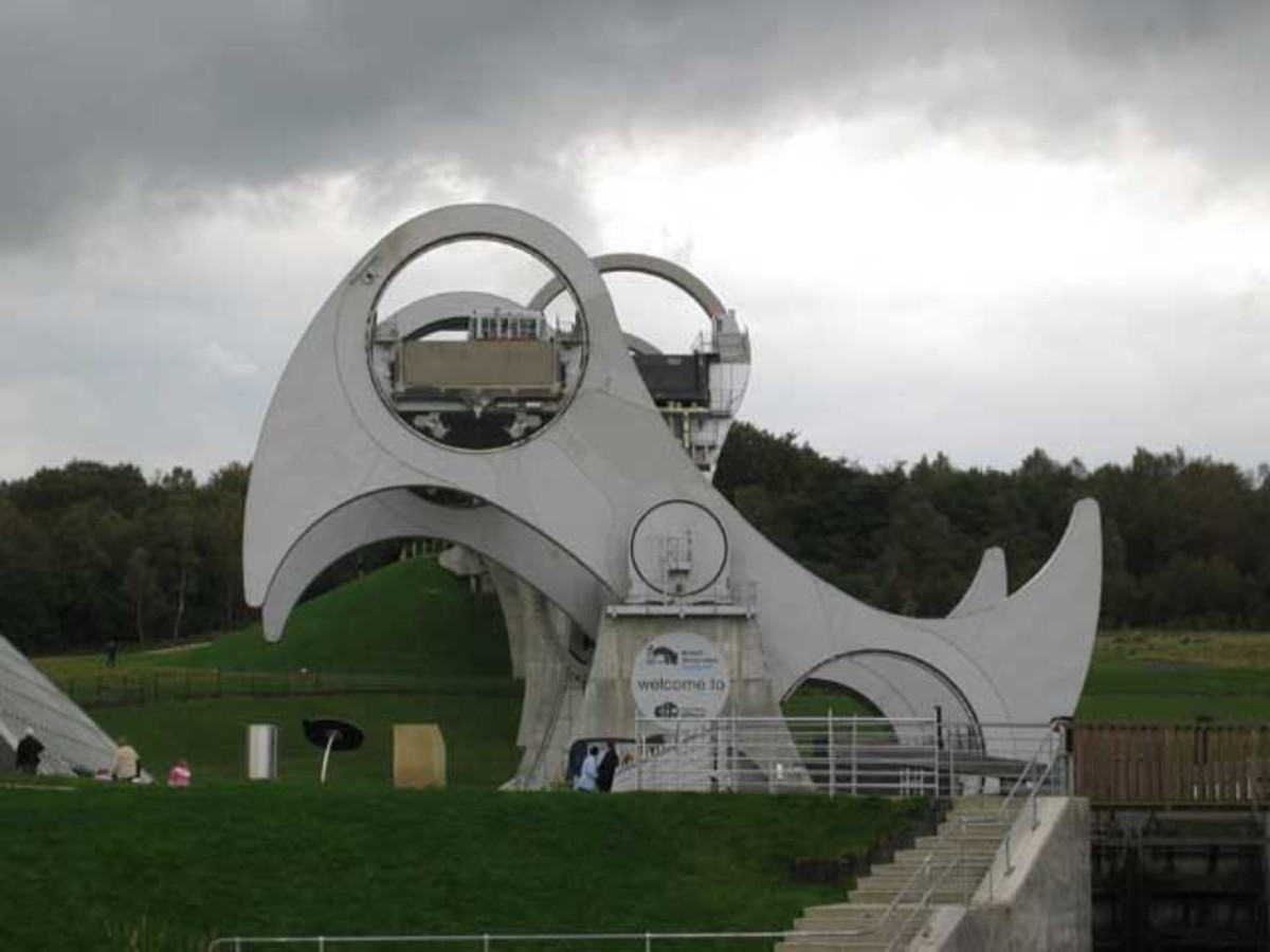 Falkirk wheel A boat lift (rather than a canal lift bridge) and piece of spectacular engineering