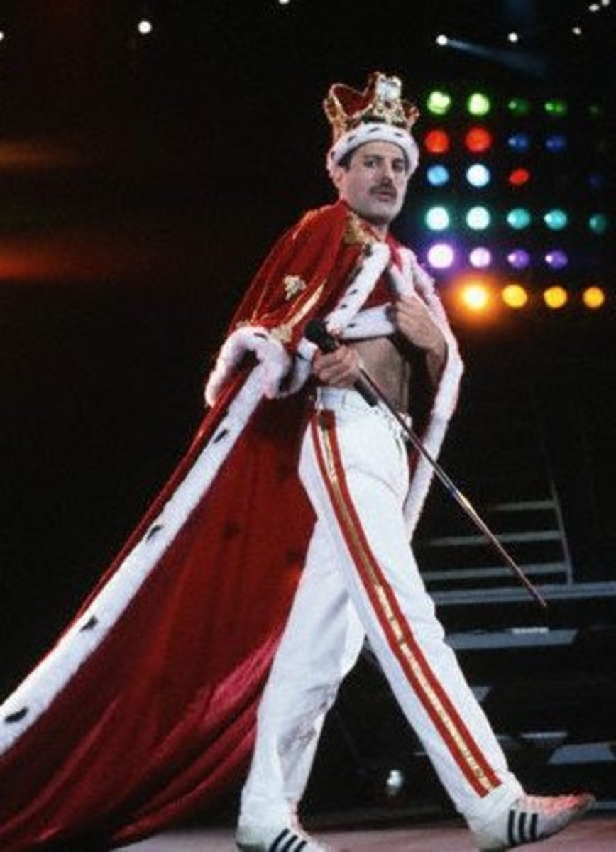 "Freddy Mercury during the ""Some Kind of Magic"" tour in 1986, which proved to be his last."