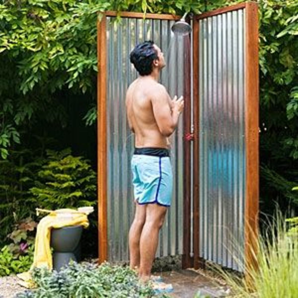 DIY Projects - Good Tutorial for an Outdoor Shower