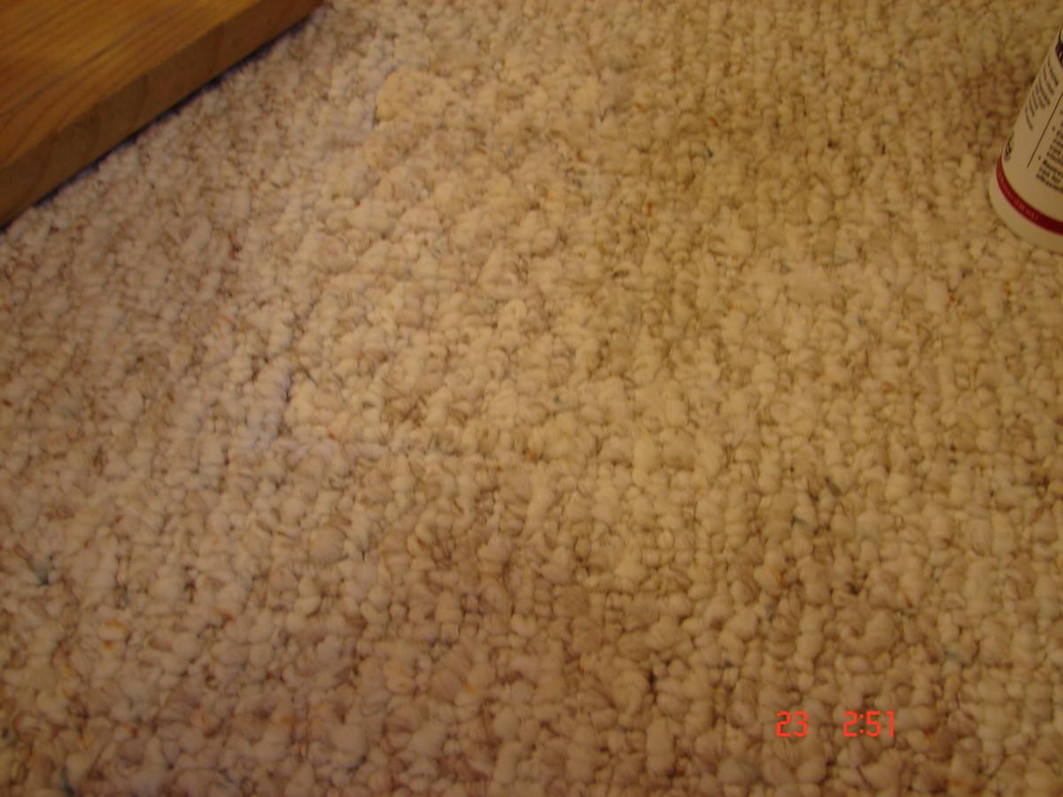 repaired carpet - wa la!  no holes