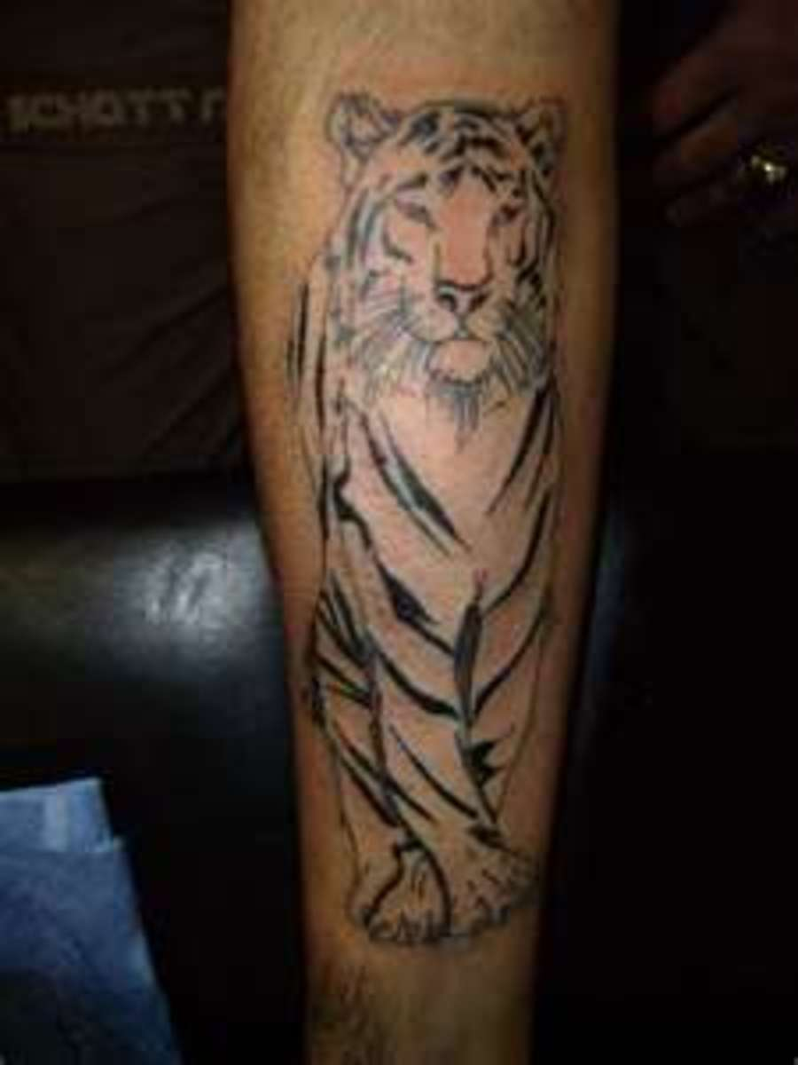 White Tiger Tattoos