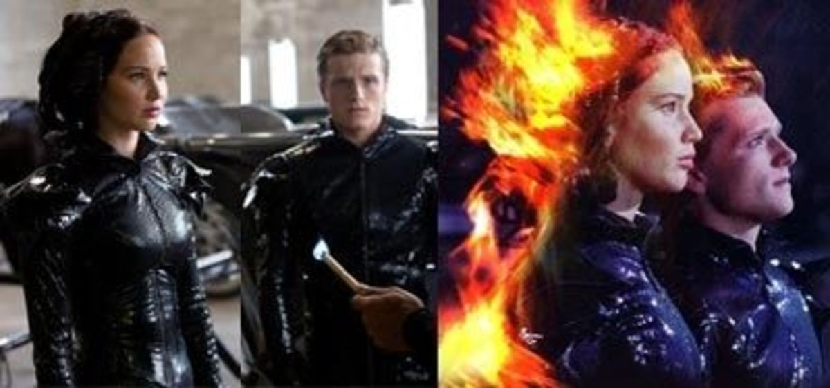 Peeta and Katniss' Fire Costume in the Movie