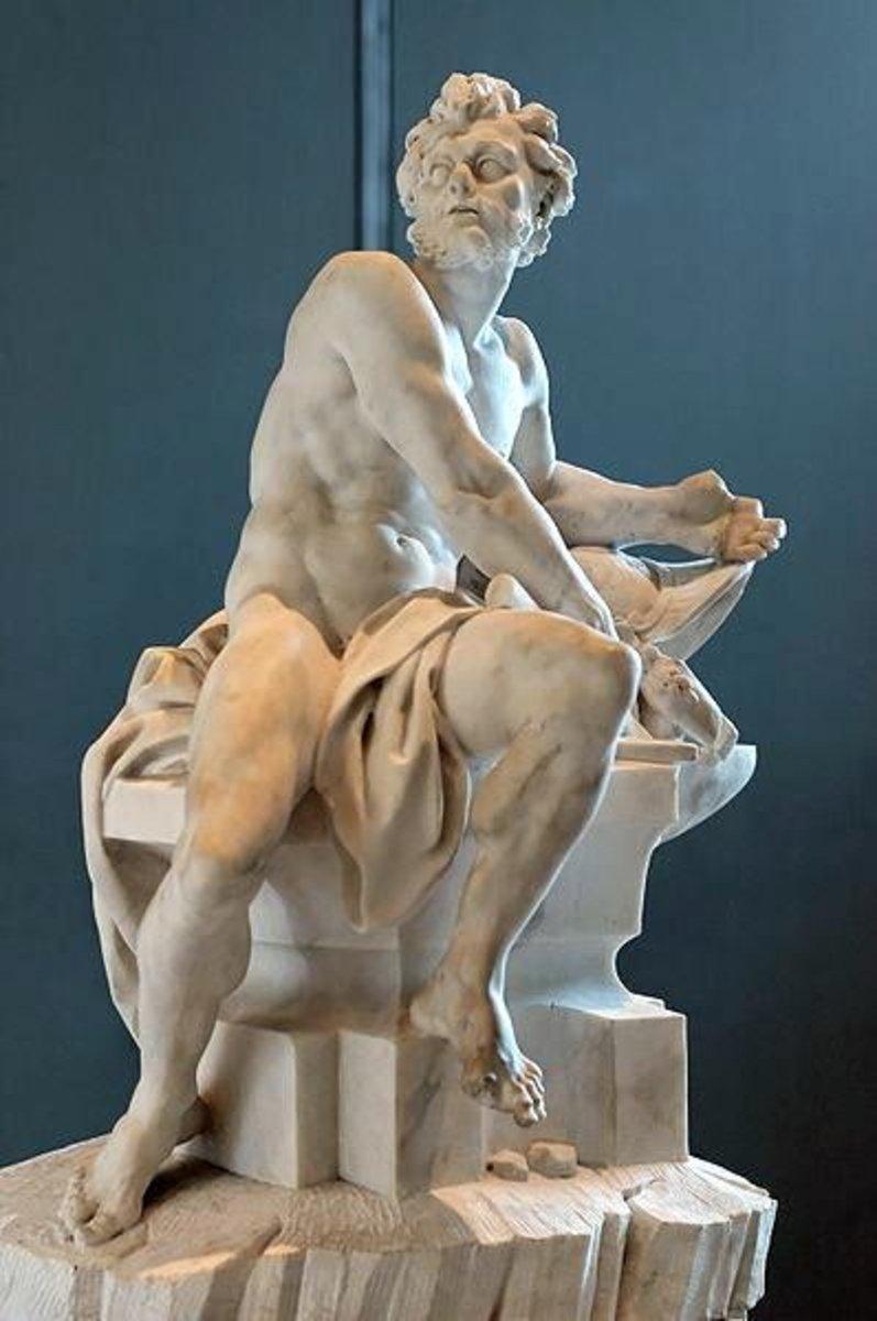 A statue of Hephaestus