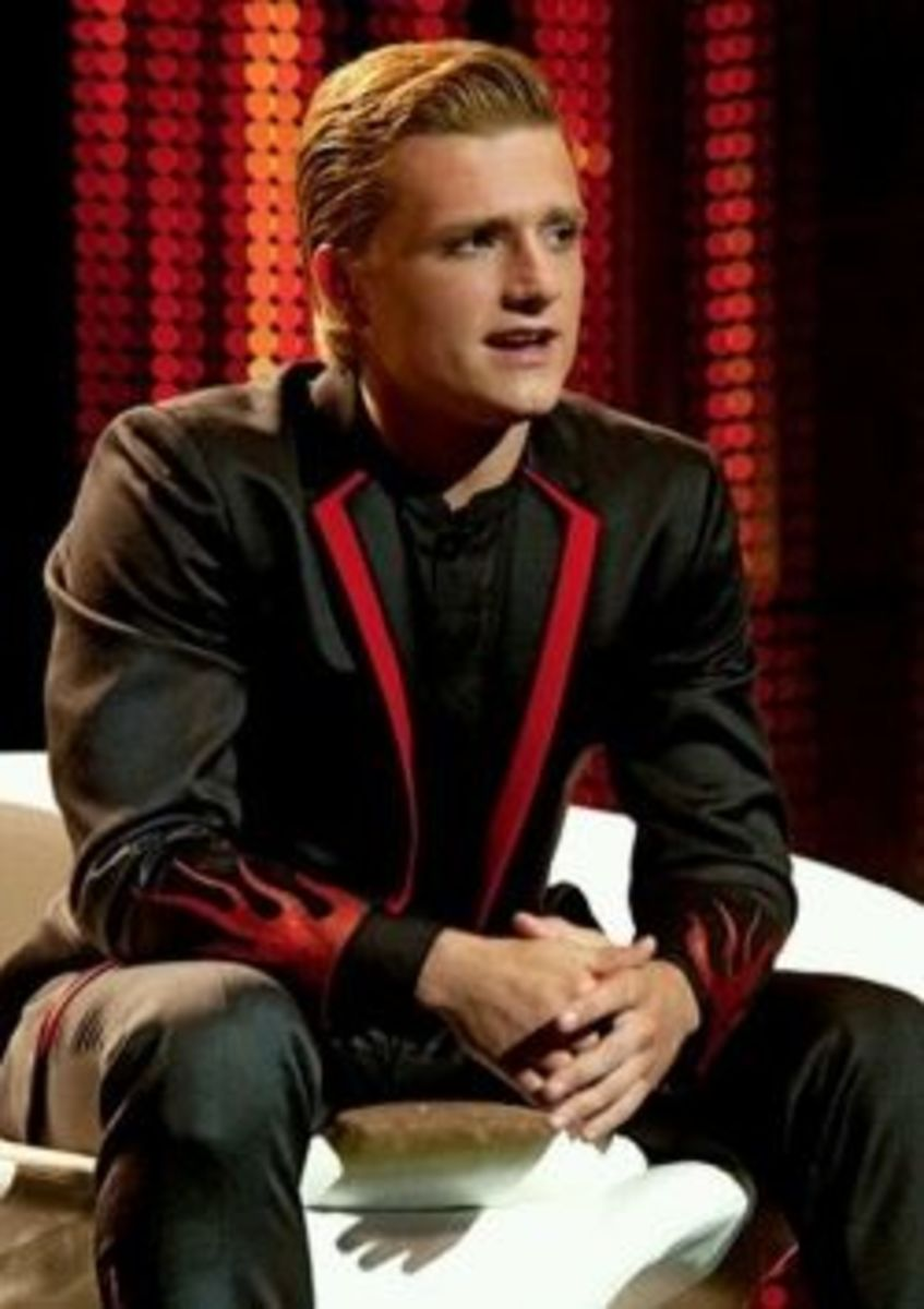 Peeta Interview Suit with Flames