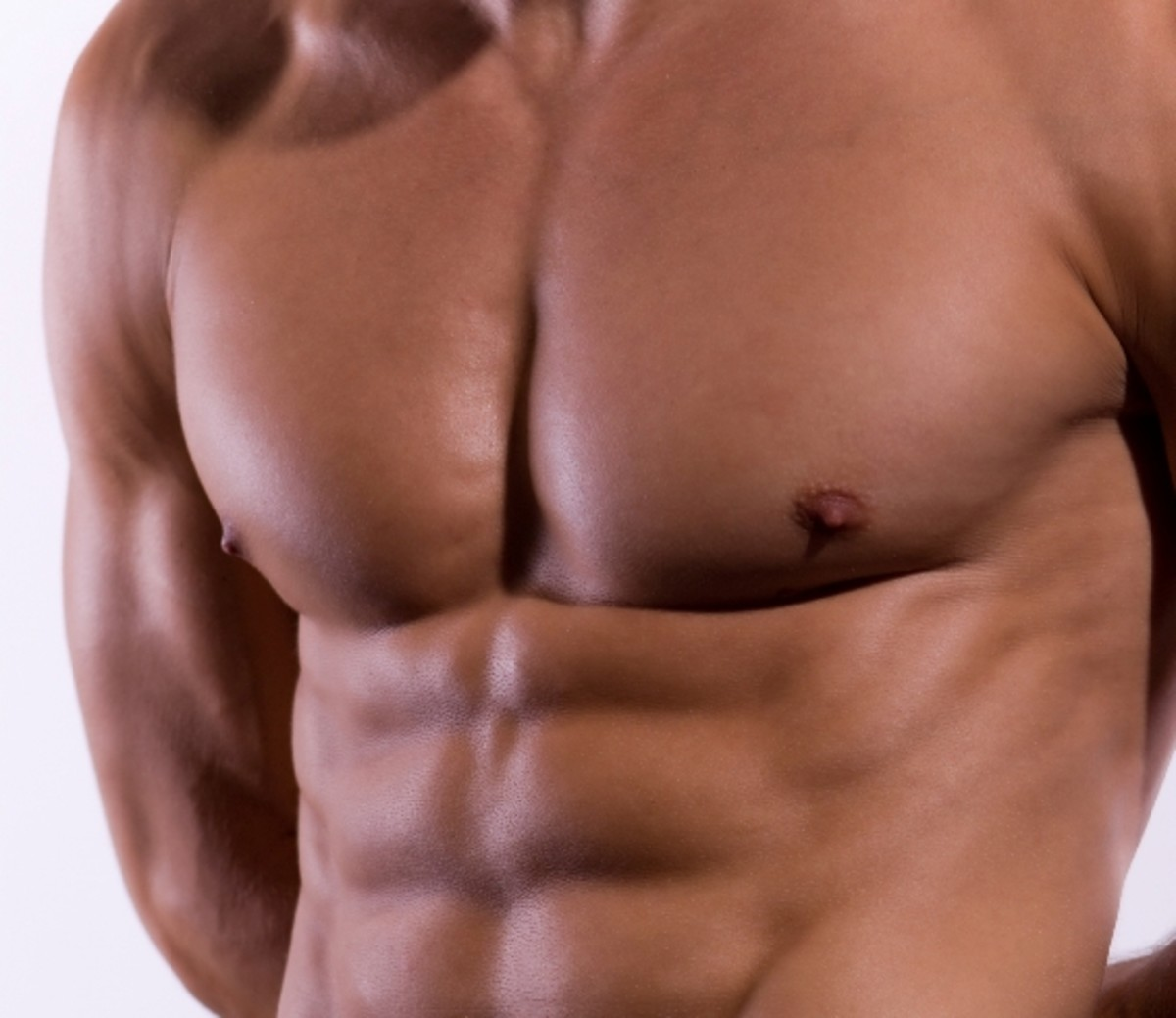 A toned muscular chest