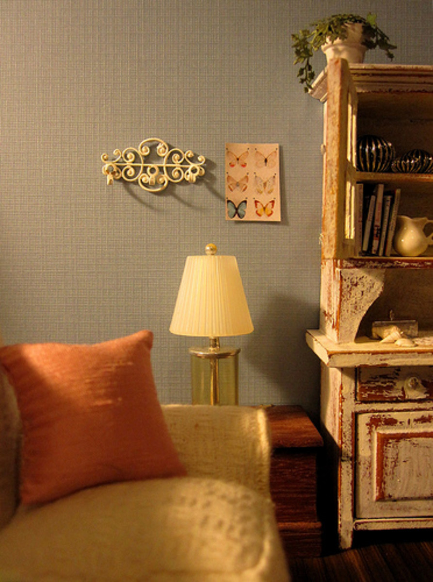 shabby chic living room retro decorating ideas