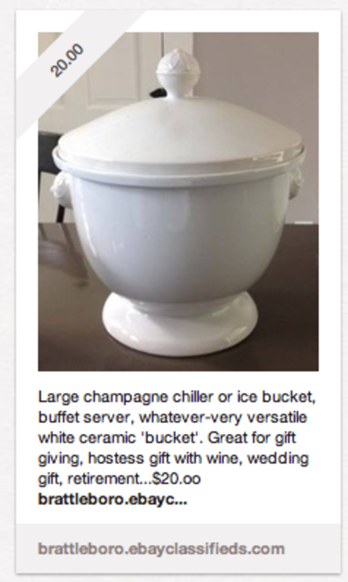 This is an item that I am selling. Notice that I added a web address to my eBay account within the description.