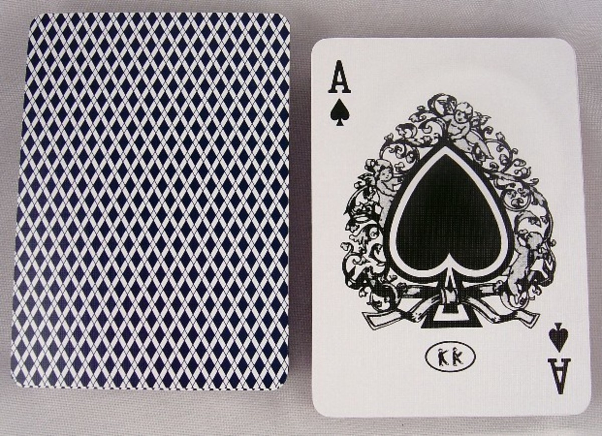 ACE OF SPADES IN BEE PLAYING CARDS