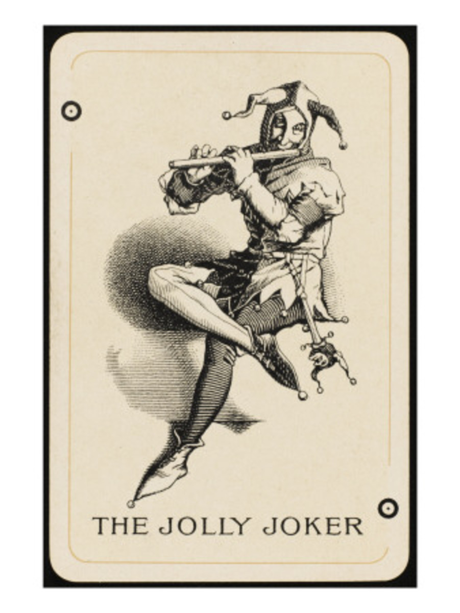 OLD GERMAN JOKER PLAYING CARD