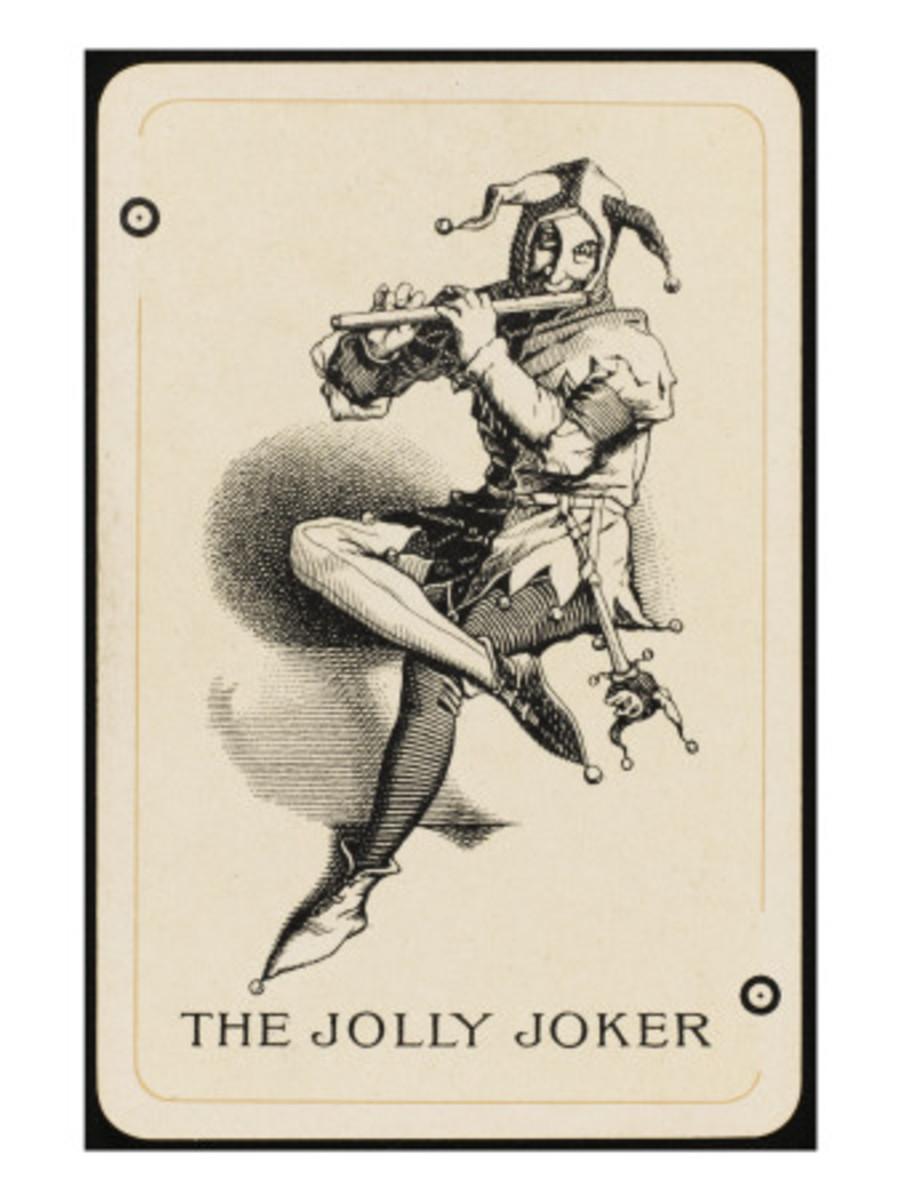 OLD GERMAN JOKER PLAYING CARD