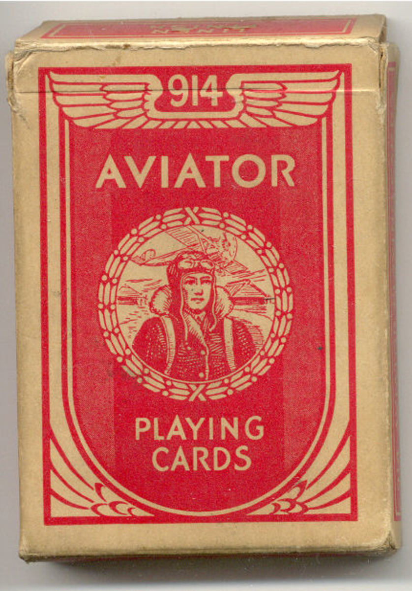 OLD SET OF AVIATOR PLAYING CARDS