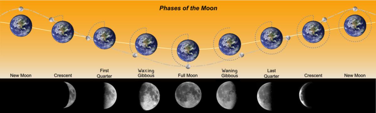 Waxing Waning Moon