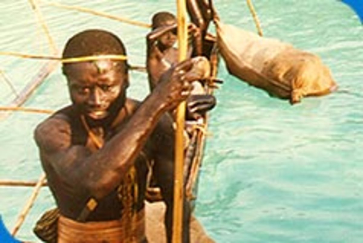 The Sentinelese use canoes for fishing expeditions in and around the lagoon.
