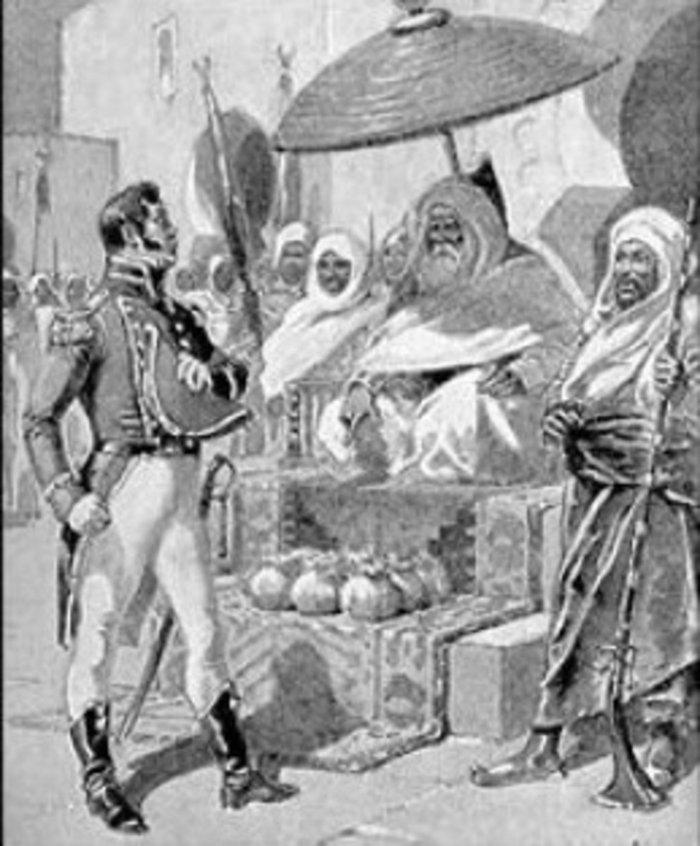 Capt. William Bainbridge paying tribute to the Dey of Algiers. Gradually in the 18th century